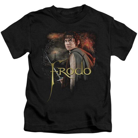 Lor Frodo Short Sleeve Juvenile Black T-Shirt