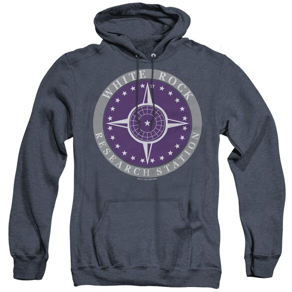 Sg1 White Rock Logo - Adult Heather Hoodie - Navy
