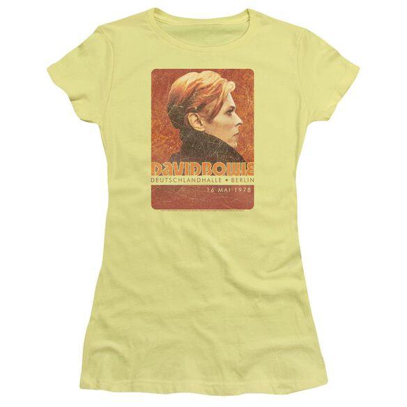 David Bowie Stage Tour Berlin 78 Short Sleeve Junior Sheer T-Shirt