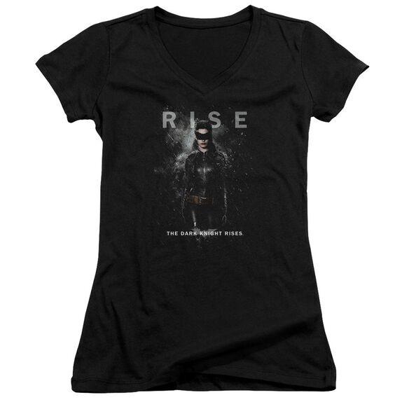 Dark Knight Rises Catwoman Rise Junior V Neck T-Shirt