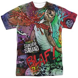 Suicide Squad Diablo Psychedelic Cartoon Short Sleeve Adult Poly Crew T-Shirt