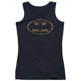 Batman Black & Gold Embossed-juniors Tank Top