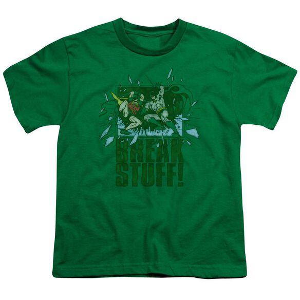 Dc Break Stuff Short Sleeve Youth Kelly T-Shirt