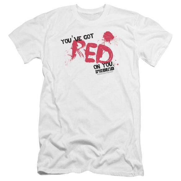 Shaun Of The Dead Red On You Premuim Canvas Adult Slim Fit
