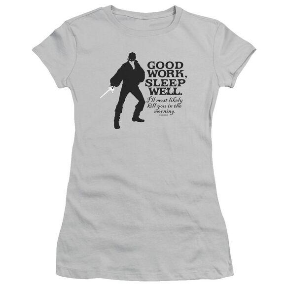 Princess Bride Good Work Short Sleeve Junior Sheer Athletic T-Shirt