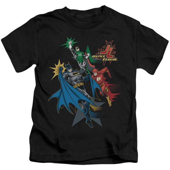 Jla Action Stars Short Sleeve Juvenile Black Md T-Shirt
