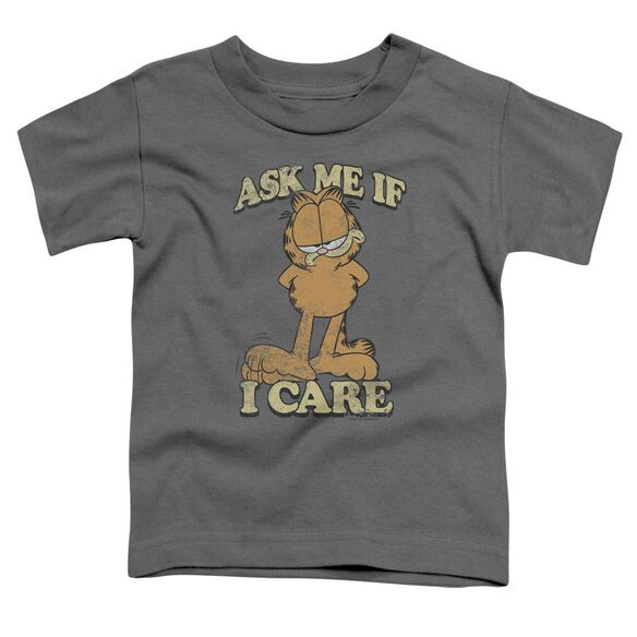 GARFIELD ASK ME - S/S TODDLER TEE - CHARCOAL - T-Shirt