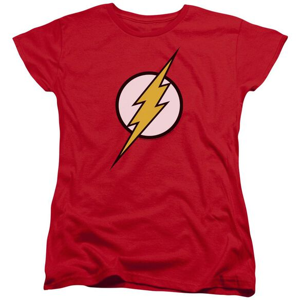 Jla Flash Logo Short Sleeve Womens Tee T-Shirt