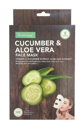 Spatherapy Cucumber & Aloe Vera Face Mask - 5 Count