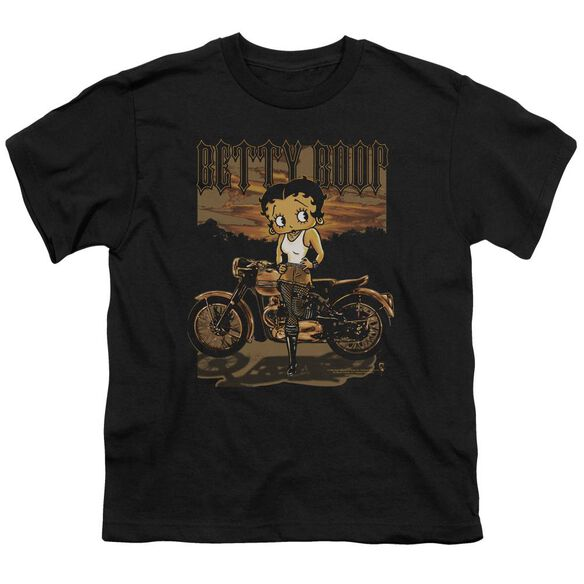 Betty Boop Rebel Rider Short Sleeve Youth T-Shirt