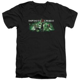 Infinite Crisis Ic Green Short Sleeve Adult V Neck T-Shirt
