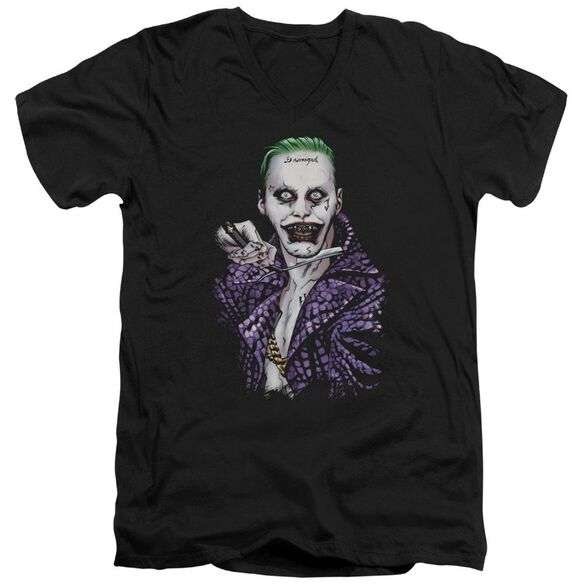 Suicide Squad Blade Short Sleeve Adult V Neck T-Shirt