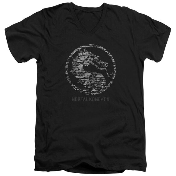 Mortal Kombat X Stone Seal Short Sleeve Adult V Neck T-Shirt