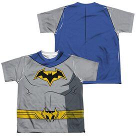Batman Unlimited Batman Uniform (Front Back Print) Short Sleeve Youth Poly Crew T-Shirt