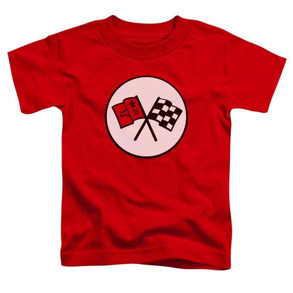 Chevrolet 2 Nd Gen Vette Logo Short Sleeve Toddler Tee Red T-Shirt