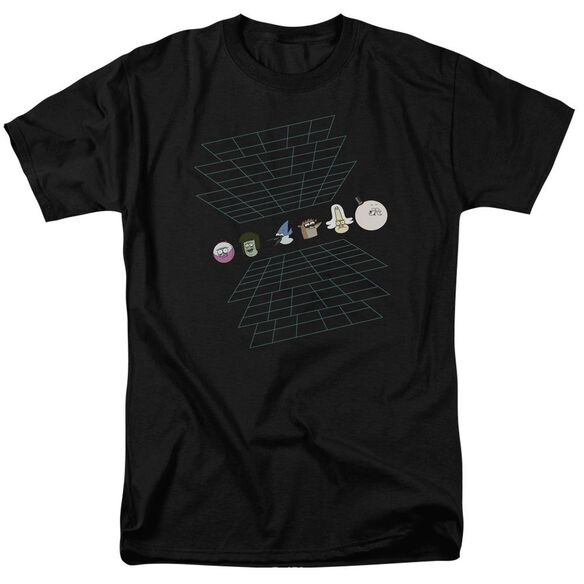 The Regular Show Regular Grid Short Sleeve Adult T-Shirt