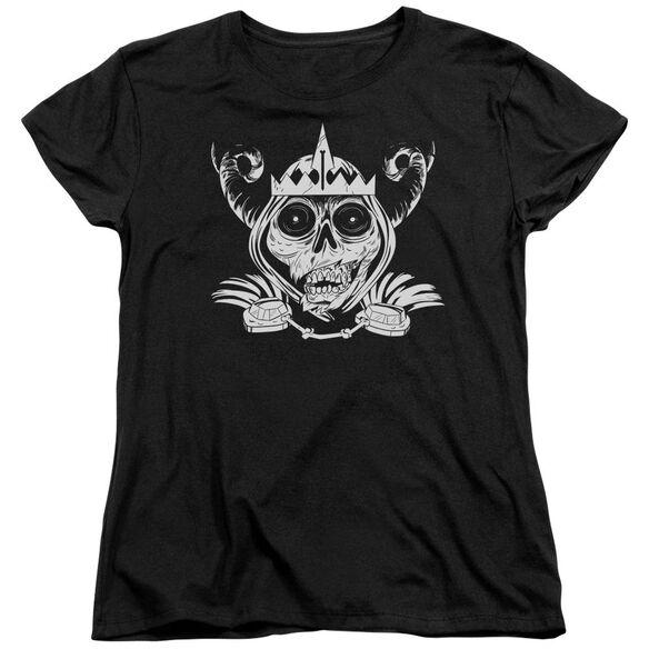 Adventure Time Skull Face Short Sleeve Womens Tee T-Shirt