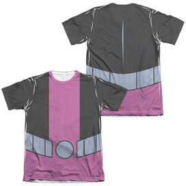 Teen Titans Go Beast Boy Uniform (Front Back Print) Adult Poly Cotton Short Sleeve Tee T-Shirt