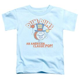 Dum Dums Classic Pop Short Sleeve Toddler Tee Light Blue Md T-Shirt
