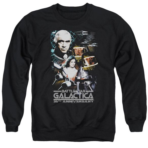 Bsg 35 Th Anniversary Collage Adult Crewneck Sweatshirt