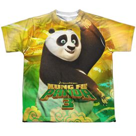 Kung Fu Panda Po And Friends Short Sleeve Youth Poly Crew T-Shirt