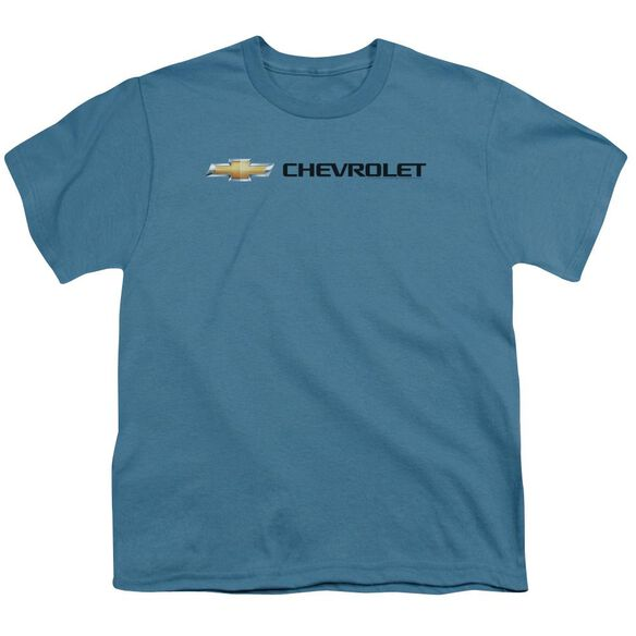 Chevrolet Chevy Bowtie Wide Front Short Sleeve Youth T-Shirt