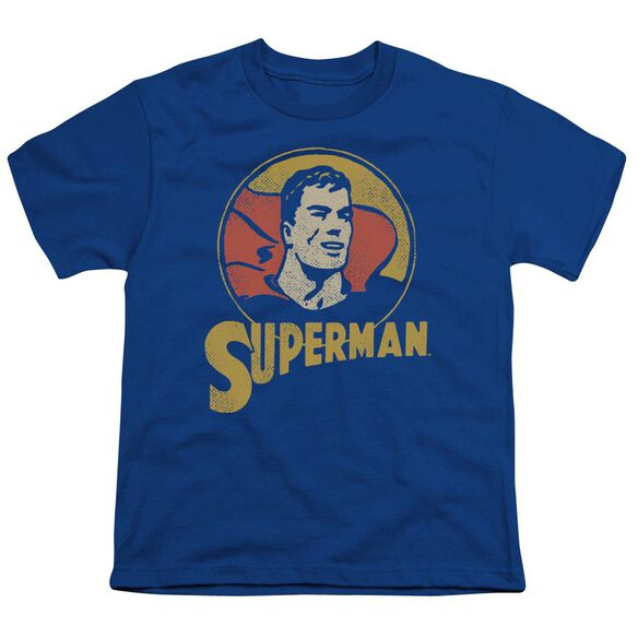 Dc Super Circle Short Sleeve Youth Royal T-Shirt