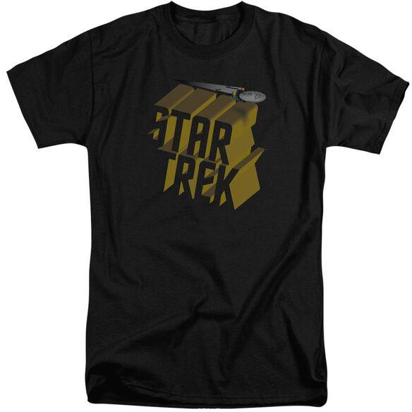 Star Trek 3 D Logo Short Sleeve Adult Tall T-Shirt
