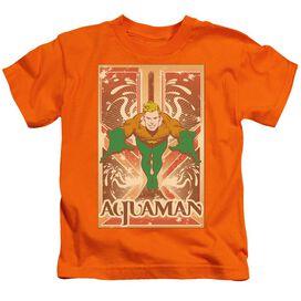 Dc Aquaman Short Sleeve Juvenile Orange Md T-Shirt