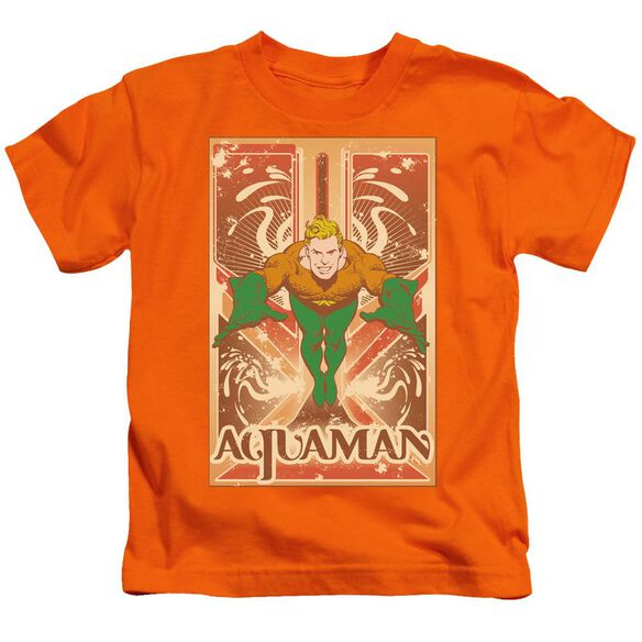 Dc Aquaman Short Sleeve Juvenile Orange Md T-Shirt