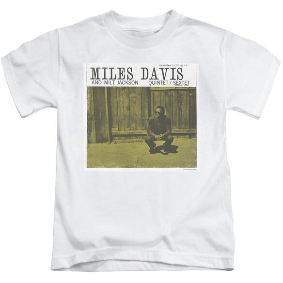 Miles Davis Miles And Milt Short Sleeve Juvenile White T-Shirt