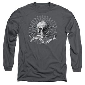 Here There Be Pirates Long Sleeve Adult T-Shirt