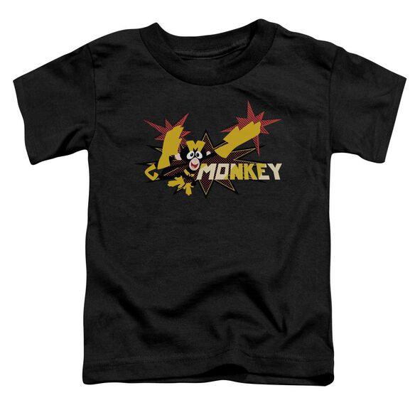Dexters's Laboratory Monkey Short Sleeve Toddler Tee Black T-Shirt