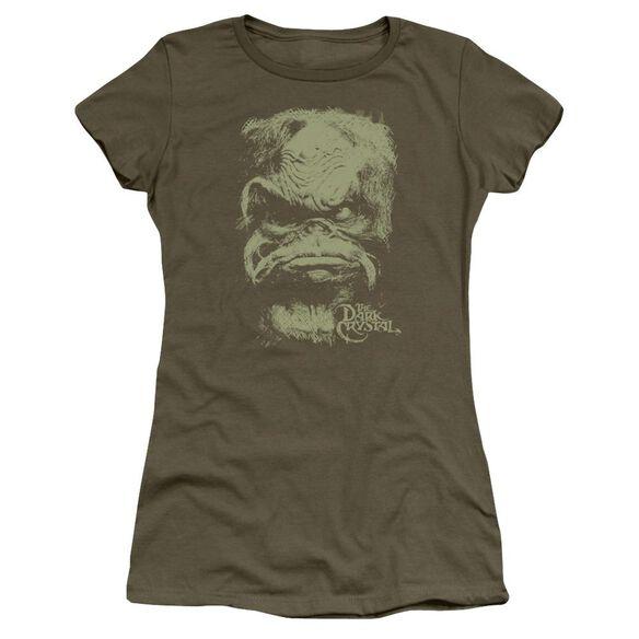 Dark Crystal Aughra Short Sleeve Junior Sheer Military T-Shirt
