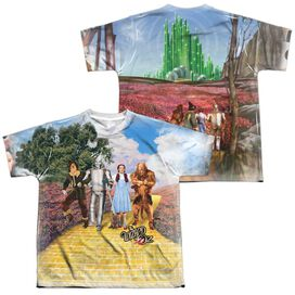 Woz On The Road (Front Back Print) Short Sleeve Youth Poly Crew T-Shirt