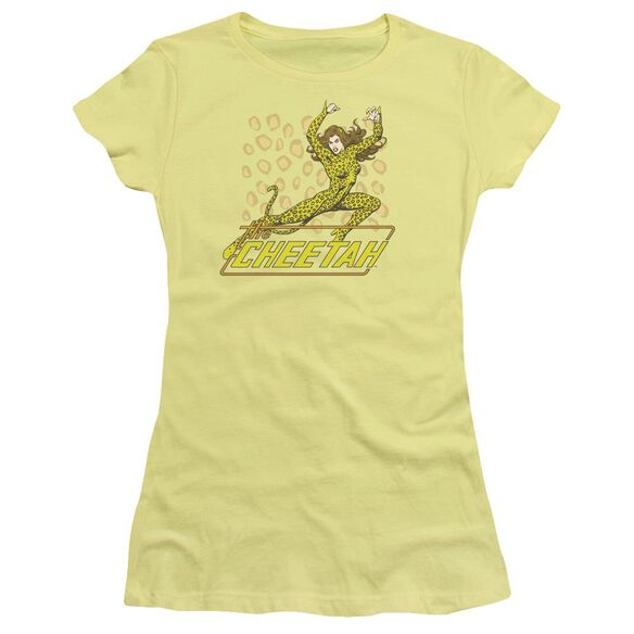 Dc The Cheetah Short Sleeve Junior Sheer T-Shirt