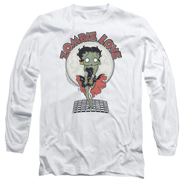 Betty Boop Breezy Zombie Love Long Sleeve Adult T-Shirt