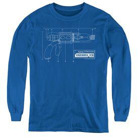 Warehouse 13 Tesla Gun - Youth Long Sleeve Tee - Royal Blue