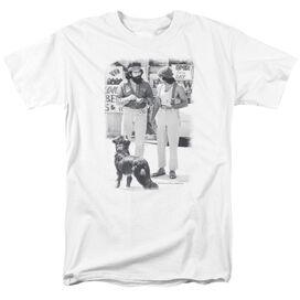Up In Smoke Cheech Chong Dog Short Sleeve Adult White T-Shirt