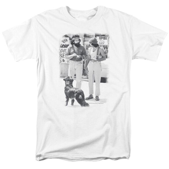 Up In Smoke Cheech Chong Dog Short Sleeve Adult White T-Shirt