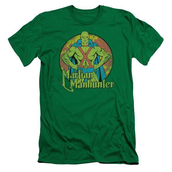 Dc Martian Manhunter Short Sleeve Adult Kelly T-Shirt