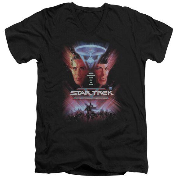 Star Trek The Final Frontier(Movie) Short Sleeve Adult V Neck T-Shirt
