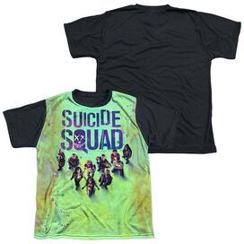 Suicide Squad Poster Short Sleeve Youth Front Black Back T-Shirt