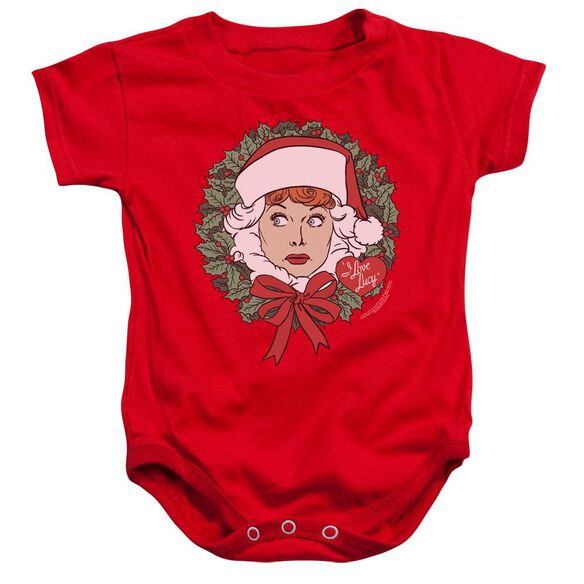 I Love Lucy Wreath Infant Snapsuit Red
