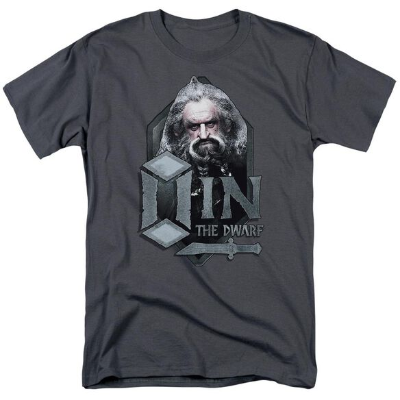 The Hobbit Oin Short Sleeve Adult Charcoal T-Shirt