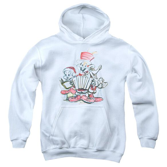 Looney Tunes Holiday Sketch Youth Pull Over Hoodie