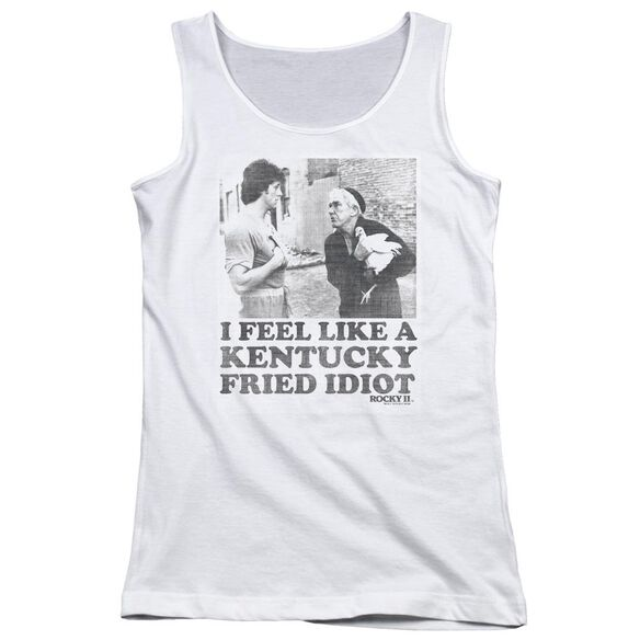Rocky Fried Idiot Juniors Tank Top