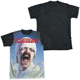 Scorpions Blackout Short Sleeve Adult Front Black Back T-Shirt