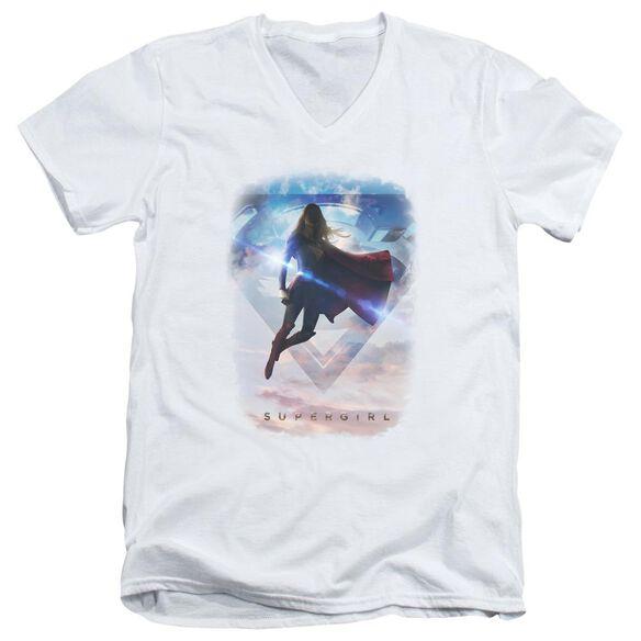 Supergirl Endless Sky Short Sleeve Adult V Neck T-Shirt