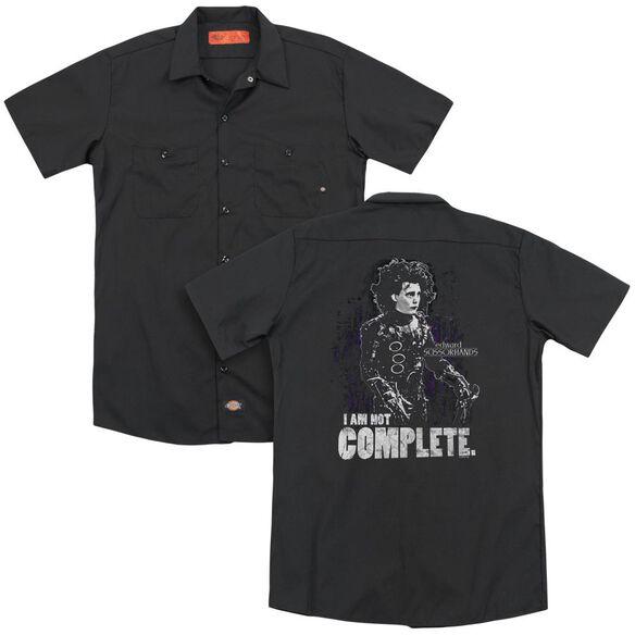 Edward Scissorhands Not Complete(Back Print) Adult Work Shirt